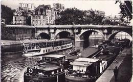 CPSM - PARIS VIème (75) - LE QUAI CONTI : PÉNICHES - 1957 - The River Seine And Its Banks
