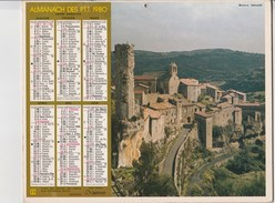 - CALENDRIER PTT Année 1980  - - Calendars