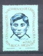 CENTENARIO DEL NACIMIENTO DE SAN CEFERINO NAMUNCURA AÑO 1986 REPUBLICA ARGENTINA MNH TBE - Christianity