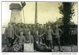 MERENDREE Bij Nevele (O.Vl.) - Molen/moulin - De Gewezen Koren- En Oliemolen In 1916 Met Duitse Soldaten - Nevele