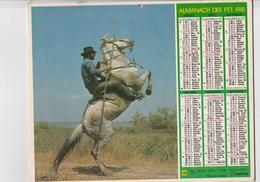 - CALENDRIER PTT Année 1981 - Chevaux   - - Calendriers