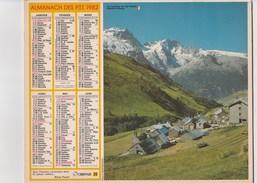 - CALENDRIER PTT Année 1982   - - Calendriers