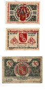 NOTGELD DER STADT MAINZ De 1921-Lot De 3 - [ 3] 1918-1933 : République De Weimar