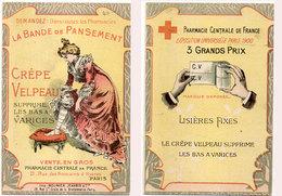 Dépliant 2 Volets - La Bande De Pansement - Crepe Velpeau - Pharmacie - Belle Illustration    (94765) - Publicités