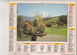 - CALENDRIER PTT Année 1983 - - Calendars