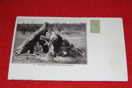 Australia Aboriginal Piccaninnies And Gunyah N. 41 Ed. Swain Sydney + Small Timbre - Aborigènes
