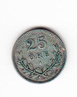 SUEDE, KM 785, VF, SILVER, 1916 W, 25 ORE. (B358) - Suecia