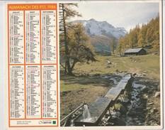 - CALENDRIER PTT Année 1986 - - Calendriers