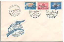 MF022 FDC 1-st Flight Moscow-London, 1959 - Cartas