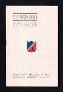 Bulletin Trimestriel De L'Ecole Saint François De Sales D'Alençon (61). Janvier 1949. - Religion & Esotericism