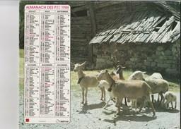 - CALENDRIER PTT Année 1986 - Chèvres - Calendars