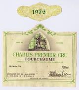 """Étiquette Et Millésime """"CHABLIS Premier Cru 1976 FOURCHAUME"""" Cheval Saint-Martin Mendiant _ev138 - Bourgogne"""