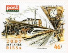 Privatpost Sachsen Bahnhof Riesa ** / MNH - Trains