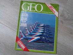 GEO UN NOUVEAU MONDE: LA TERRE N°56.1983. LA FLORIDE. GRIZZLY. PATROUILLE DE FRANCE.