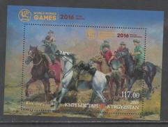 KYRGYZSTAN,2016,MNH, NOMAD GAMES, HORSES, S/SHEET - Horses