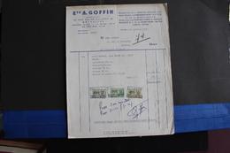 Fac-99 / Bruxelles - Ets A.Goffin. 63, Rue Église Ste-Anne, Bruxelles - Distributeur De La Norton  Motors  LTD.  / 1957 - Sports & Tourisme