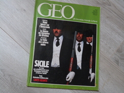 GEO UN NOUVEAU MONDE: LA TERRE N°62.1984.SICILE. BRESIL. INDE. BONSAI. MENAGERIE ZOO PARIS.