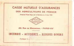Buvard Caisse Mutuelle D'assurances Des Agriculteurs De France - Banque & Assurance