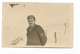 FOTO SOLDATO SU CARTA FERRANIA 11 FEBBRAIO 1942 - CM.14X8,8 - Guerra, Militari