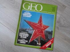 GEO UN NOUVEAU MONDE: LA TERRE N°45.1982. PEROU.  MOSCOU. COCAINE. HYENE.