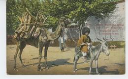 RUSSIE - RUSSIA - Types D'Asie Intransitive - Le Transport Du Bois ( Chameau Et âne ) - Russland