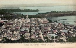VILLE DE FORT-DE-FRANCE CARTE COLORISEE - Fort De France
