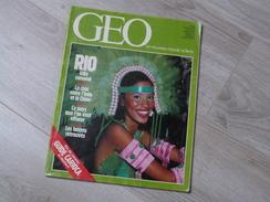 GEO UN NOUVEAU MONDE: LA TERRE N°84.1986. RIO DE JANEIRO. GORILLE. INDE CHINE. ARMENIE