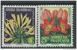 A. E. F. N° 243 / 44  X  Flore : Fleurs Les 2 Valeurs Trace De Charnière Sinon TB