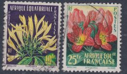 A. E. F. N° 243 / 44 O  Flore : Fleurs Les 2 Valeurs Oblitérations Moyennes Sinon TB
