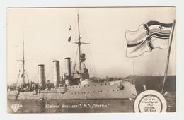 """Carte Postale Navire - Kleiner Kreuzer S.M.S.,,Stettin"""" -   33643/29.  B.N.K. Carte Postale Non Voyagé, Dos Séparé, Bon - Allemagne"""