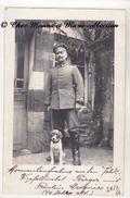 WWI 1916 - VIZEFELDWEBEL SOUS OFFICIER BERGER ET SA FRAULEIN MARQUISE - ALLEMAND - CARTE PHOTO MILITAIRE - Guerre 1914-18