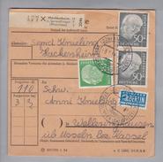 Heimat DE Rh.Pf. Hackenheim 1955-01-13 Paketkarte 3,5 Kg DM 1.10 - [7] République Fédérale