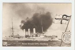 """Carte Postale Navire - Kleiner Kreuzer S.M.S.,, Hamburg"""". 33643/32.  B.N.K. Carte Postale Non Voyagé, Dos Séparé, Bon ét - Allemagne"""