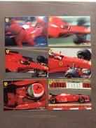 Serie Di 6 Cartoline In Bianco Del 1997, Immagini Della Ferrari Formula 1 - Grand Prix / F1