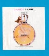 Cartes Parfumées Carte CHANEL CHANCE  De CHANEL A RABAT AMÉRICAINE - Perfume Cards