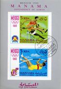 Manama - MNH ** Mi Bloc N° 5 A Jeux Olympiques (summer Olympics Games) Mexico 68