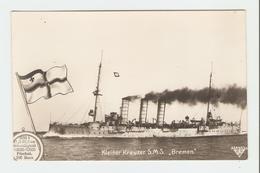 """Carte Postale Navire - Kleiner Kreuzer S.M.S.,, Bremen"""". 33643/34.  B.N.K. Carte Postale Non Voyagé, Dos Séparé, Bon éta - Allemagne"""
