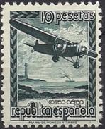 ESPAÑA 1939 AVION EN VUELO Mi:ES NV XI, Yt:ES PA 194A, Edi:ES NE 38 * MH    VC 40 EUROS - 1931-Hoy: 2ª República - ... Juan Carlos I