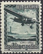 ESPAÑA 1939 AVION EN VUELO Mi:ES NV XI, Yt:ES PA 194A, Edi:ES NE 38 * MH    VC 40 EUROS - 1931-Today: 2nd Rep - ... Juan Carlos I