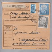 Heimat DE Rh.Pf. Neu-Bamberg 1955-01-12 Paketkarte 3 Kg 80 Pf. Nach Reinfelsheim - [7] République Fédérale