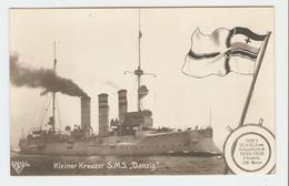 """Carte Postale Navire - Kleiner Kreuzer S.M.S.,, Danzig."""" 33643/36.  B.N.K. Carte Postale Non Voyagé, Dos Séparé, Bon éta - Allemagne"""