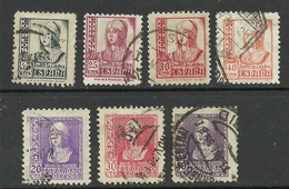SPAIN Spanien Espana 1937/39 Queen Isabella 7 Stamps O - 1931-Aujourd'hui: II. République - ....Juan Carlos I