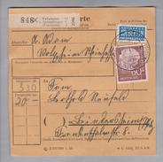 Heimat DE Rh.Pf. Volxheim 1955-11-21 Paketkarte 20 Kg DM 3.30 - Lettres & Documents