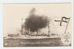 """Carte Postale Navire - Kleiner Kreuzer S.M.S.,, Frauenlob."""" 33643/39.  B.N.K. Carte Postale Non Voyagé, Dos Séparé, Bon - Allemagne"""