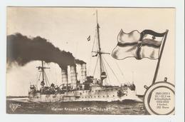 """Carte Postale Navire - Kleiner Kreuzer S.M.S.,, Medusa."""" 33643/40.  B.N.K. Carte Postale Non Voyagé, Dos Séparé, Bon éta - Allemagne"""