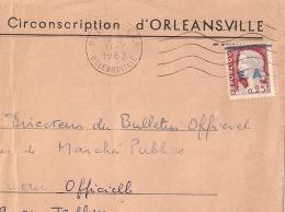 En BLEU, E.A. Sur DECARIS, ORLEANSVILLE R.P. Algérie Sur Enveloppe. 11/7/1962 - Algérie (1962-...)