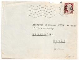 NON TAXE, E.A. Sur DECARIS, SIDI BEL ABBES, ORAN, Algérie Sur Enveloppe Pour Le MAROC. - Algérie (1962-...)
