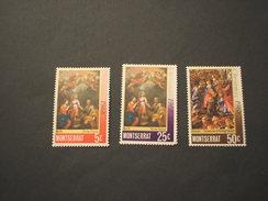 MONTSERRAT - 1968 QUADRI NATALE  4 VALORI - NUOVI(++) - Montserrat