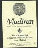 étiquette Vin   Madiran Vin Sélectionné Par La Viguerie Royale De Madiran - Madiran