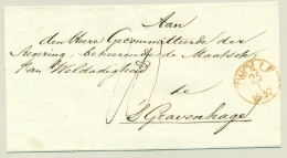 Nederland - 1857 - EO-omslag Van OMMEN Via Zwolle Naar 's Gravenhage - ...-1852 Voorlopers